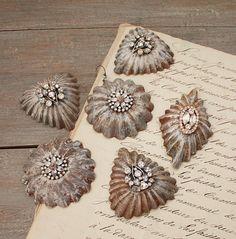Vintage Tart Tin Ornament Round by ClothandPatina on Etsy