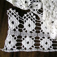 Vintage white crochet trim Antique crocheted lace by MyWealth