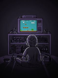 "My childhood with ""Nintendo"" and ""Super Mario Brothers"" - Meine Kindheit mit ""Nintendo"" und ""Super Mario Brothers"". Otaku Anime, Geek Culture, Gi Joe, Mundo Dos Games, Nostalgia, Video Vintage, Garage Art, Video Game Art, Game Gif"