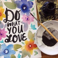 think.make.share's photo on Instagram / Hallmark / lettering by Lynn Giunta