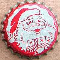 image: Santa Claus (B-1 Lemon Lime Soda), bottle cap | B-1 Beverage Co., St. Louis, Missouri USA