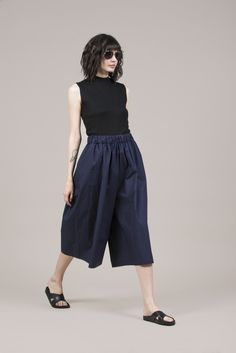 Adelia Culotte Pant by Yune Ho #kickpleat #yuneho