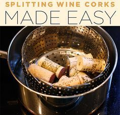 I did this and could easily cut my wine corks in half lengthwise with just a kitchen knife.