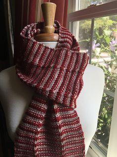 Halsey pattern by Kim S. Bridgeo | malabrigo Rios in Ravelry Red and Pearl