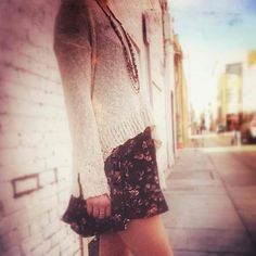 sweater over dress <3