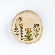 wooden brooch.