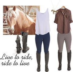 Horseback Riding Outfit, created by anajade on Polyvore