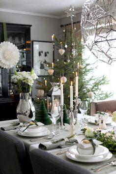 Inspirasjon til å dekke et vakkert julebord