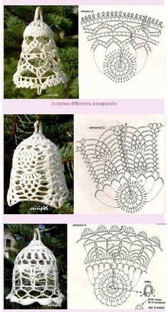 Szydełkowe Dziergadełka Nowak Katarzyna - Her Crochet Crochet Christmas Decorations, Crochet Decoration, Crochet Christmas Ornaments, Christmas Crochet Patterns, Crochet Snowflakes, Handmade Ornaments, Christmas Bells, Christmas Angels, Christmas Crafts