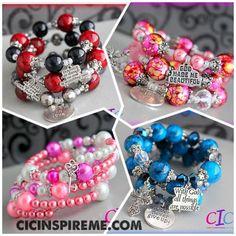 Beautiful handmade inspirational bracelet sets! www.etsy.com/... #ValentinesDay #giftforher #jewelry #etsy #VDay #jewelryforher