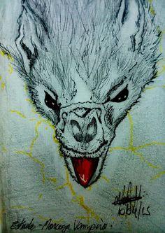 Estudo: Morcego Vampiro Lapiseira 0,5 Caneta Mícron 0,5 Canetinha Sobre Canson (sketchbook) 8x12cm.