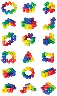awesome fidget toy. shape, colour, movement. fine finger movements. dexterity. focus. concentration