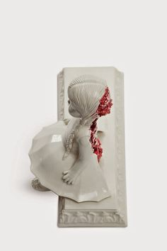 Maria Rubinke is a young Danish artist based in Copenhagen. She is best known for her porcelain figurines depicting gruesome scenes. Creepy Art, Creepy Dolls, Weird Art, Doll Tattoo, Porcelain Jewelry, Gothic Art, Clay Art, Sculpture Art, Ceramic Sculptures