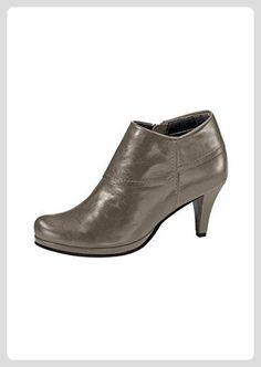 Stiefelette Damen aus Leder von Andrea Conti - Taupe Gr. 35 - Stiefel für frauen (*Partner-Link)