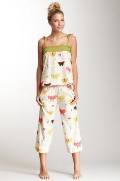 Voile Flutter Tank & Pant Pajama Set