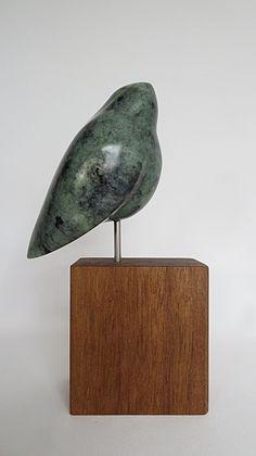 Stone Sculpture, Peacock, Carving, Bird, Abstract, Modern, Handmade, Home Decor, Art Sculptures