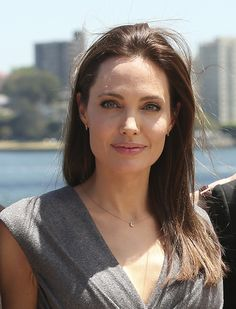 "Angelina Jolie, who directed and produced the film ""Unbroken,"" poses for a photo after a p..."