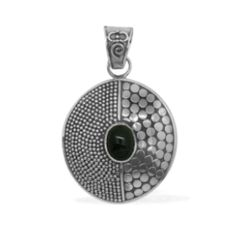 Bali legacy Indian black star pendant sterling Bali legacy Indian Black Star Diopside (oval) Pendant Sterling Silver Nickel Free TGW 2.840 Cts. Jewelry