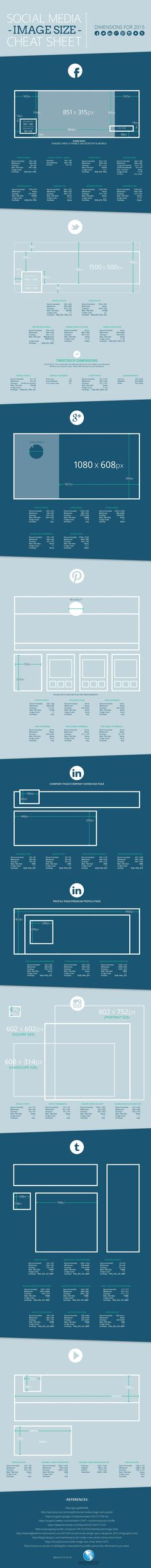 LOVE THAT IS SHOWS THE CROPPING FOR MOBILE AS WELL ------ We understand you're busy. That's why we decided to create this helpful infographic that has all of the 2015 social media image dimensions in one place!