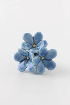 Floral Burst Knob, Forget-Me-Not - Anthropologie.com