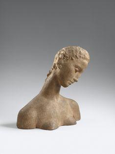 Sculpture Head, Sculptures, Museum Ludwig, Online Katalog, Female Head, Ceramic Figures, Modern Art, Art Gallery, Objects
