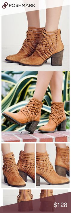 """Free People Carrera boot-NWT- size 39 Free People Carrera boot-NWT- size 39. Washed leather block heel boots with basket-weave detailing up the ankle. Zip back for easy on/off. Color is taupe. Made in Portugal. Heel: 3.62"""" according to website. Obsessed with these!! Note: I think they run a tad small and may fit an 8-8.5 better. Never even tried on and come new with box. Free People Shoes Ankle Boots & Booties"""