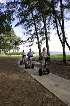 You can take Segway rides through paradise It's as easy as walking—and more fun.