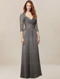 mother of the groom dress_Charcoal