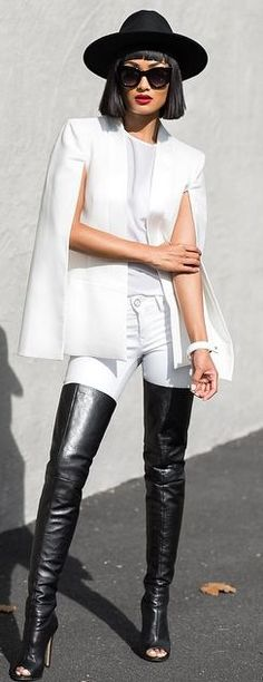 Black And White Outfit Idea by Micah Gianneli