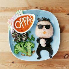 Let's Opp Op Op Opp Op Oppa Gangnam Style once more! (Remake) #leesamantha #foodart
