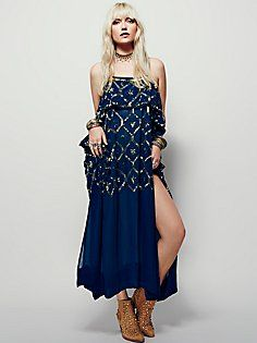 Electric Sky Embellished Maxi