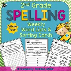 2nd Grade Spelling Lists EDITABLE These weekly spelling lists can be used with any balanced literacy program. These word lists are intended for grade 2 but it could easily be used to enrich 1st grade students or as an intervention with 3rd graders. ****Save $ Buy the BUNDLE**** Year-Long Spelling Program