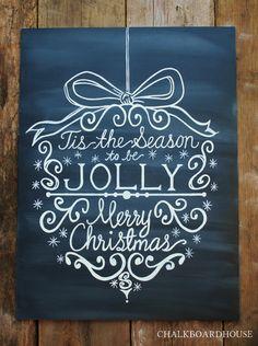 18x24 Hand Painted Chalkboard Christmas van CHALKBOARDHOUSE op Etsy