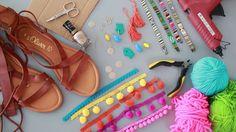 InStyle DIY Tutorial: Pompom-Sandalen selbst machen