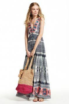 Cannes Embroidered Silk Dress    Calypso St. Barth