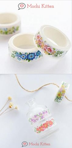 These floral bunches masking tapes will add colorful patterns on your bujo spreads, notes, and DIY projects. Washi Tape Crafts, Washi Tapes, Masking Tape, School Accessories, Bunch Of Flowers, Sticky Notes, Spreads, Art Supplies, Color Patterns