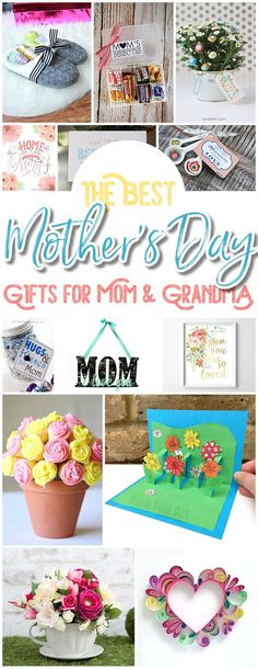 The BEST Easy DIY Mother's Day Gifts and Treats Ideas – Holiday Craft Activity Projects, Free Printables, Kids Paper Crafts and Favorite Brunch Desserts Recipes for Moms and Grandmas - Dreaming in DIY Easy Diy Mother's Day Gifts, Mother's Day Diy, Easy Diy Crafts, Diy Craft Projects, Diy Gifts, Free Gifts, Craft Gifts, Mothers Day Crafts For Kids, Best Mothers Day Gifts