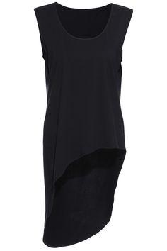 ROMWE Asymmetric Black Vest