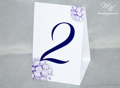 2-sided Wedding table numbers with ribbon and by WeddingUkraine
