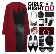 """Hey, Besties: Girls' Night."" by megan-vanwinkle ❤ liked on Polyvore featuring Lafayette 148 New York, TFNC, Givenchy, Gearonic, Jessica McClintock, John Hardy, Byredo, MANGO, NARS Cosmetics and INC International Concepts"