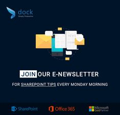 Sign up for #SharePoint & Office 365 tips every Monday morning just to cheer you up! https://www.mydock365.com/sharepoint-and-office-365-tips-enewsletter?utm_campaign=crowdfire&utm_content=crowdfire&utm_medium=social&utm_source=pinterest