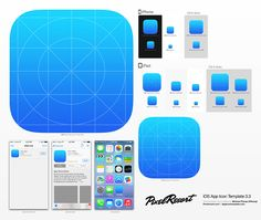 I really love this one. Create iOS icons in a breeze. Simply edit and do your logo design in one smart layer and see. Save and it update in all the different icon resolutions. And best of all is that the template comes with actions which makes it effortless to save all the different icon resolutions needed.