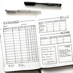 19 Creative Bullet Journal Ideas For Personal Finance – Our Mindful Life – Finance tips, saving money, budgeting planner Bullet Journal Expenses, How To Bullet Journal, Bullet Journal Ideas Pages, Bullet Journal Inspo, Bullet Journals, Bullet Journal Spending Log, Bullet Journal Expense Tracker, Bullet Journal For School, Bullet Journal Goals Layout