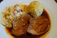 Schopfbraten, svinenakke, matoppskrifter fra Østerrike Steak, Pork, Ethnic Recipes, Roast, Pork Roulade, Pigs, Steaks