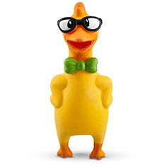 Leaps  Bounds Nerdy Chicken Latex Dog Toy Small -- Click image for more details. (Note:Amazon affiliate link)