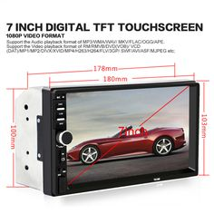 7 Inch Bluetooth Audio Touch Screen Car Radio Car Audio Stereo MP3 MP5 Player USB Support for SD/MMC Remote Control And Camrera