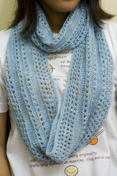 FOs: Infinity Scarves and Socks Knit Cowl, Knitted Shawls, Crochet Scarves, Crochet Shawl, Knit Crochet, Lace Patterns, Knitting Patterns, Scarf Patterns, Infinity Scarf Knitting Pattern