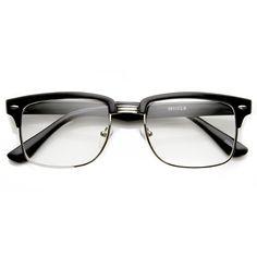 45b52e8c81a6 Classic Square Vintage Clear Lens Half Frame Horned Rim Glasses 9185. Clear  Glasses FashionEyeglass Frames For MenMen's ...