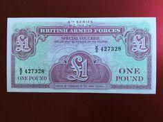 £1 British Forces Banknote Serial Number K/2 427328 Personalised Initial K
