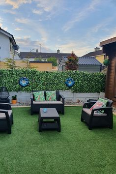 We love this garden makeover ⬜️🌿 Our customer, with a little family help it seems, has created this seamless outdoor living space with contemporary materials. Artificial grass is very easy to install, and can transform your outdoor space. Check out the photos below to see the transformation. The artificial grass used was our Grattan Artificial Grass 15mm